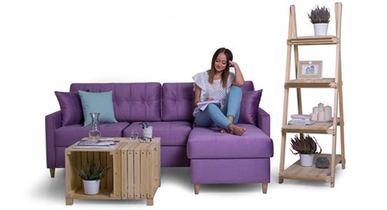 Canapea practică de colț cu funcție de dormit